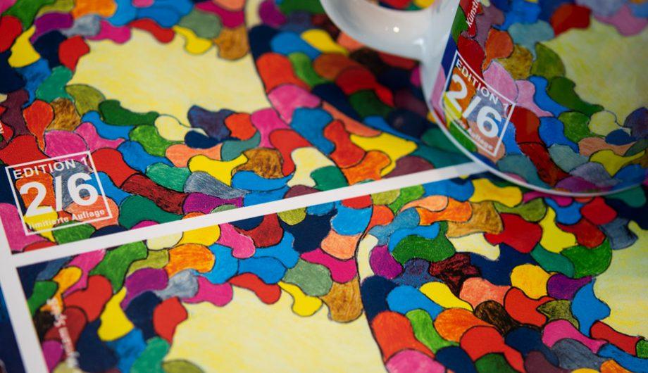 Abziehbilder für Porzellan Tasse