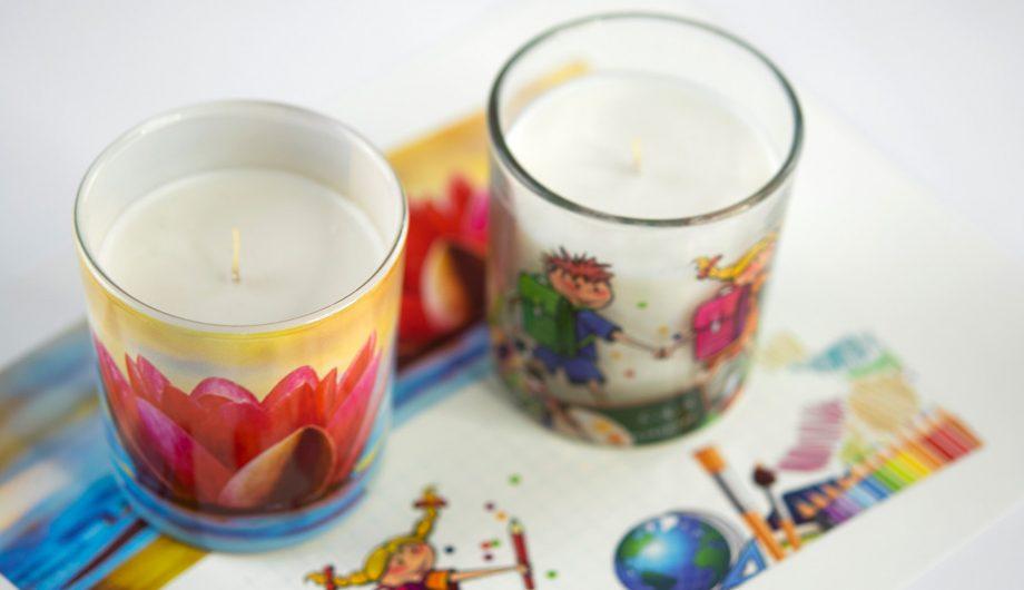 Abziehbilder für Kerzen